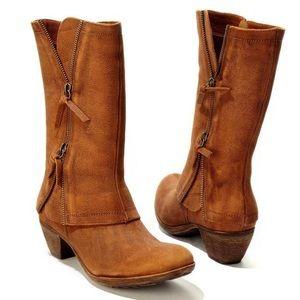 """Matisse """"Dove"""" Boot cognac brown double zip size 7"""